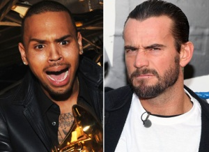 CM Punk Chris Brown twitter youtube
